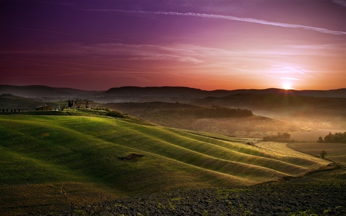 Tuscany prairie landscape theme wallpaper Views:17875