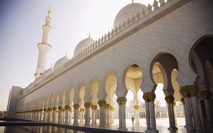 abu dhabi sheikh zayed mosque arches-Cities photo HD wallpaper Views:3538