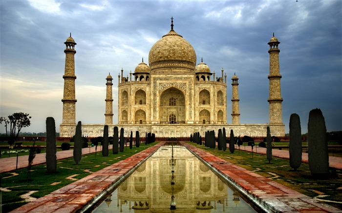 india agra taj mahal-Cities photo HD wallpaper Views:3427