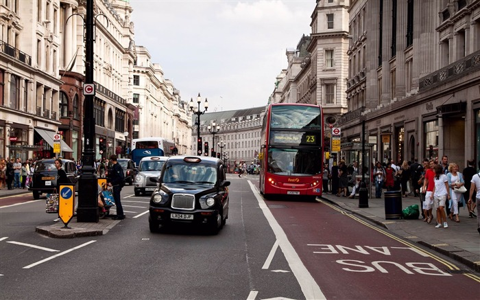 london street traffic bus-Cities photo HD wallpaper Views:4167