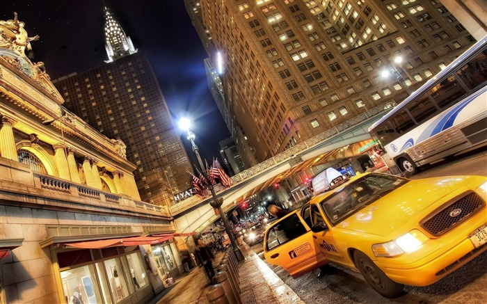 new york traffic cars street-Cities photo HD wallpaper Views:2280