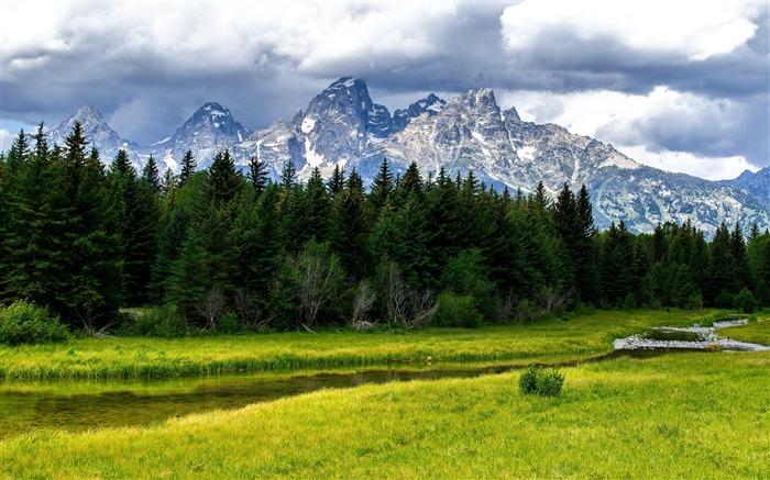 the grand tetons-landscape HD Wallpaper Views:2748