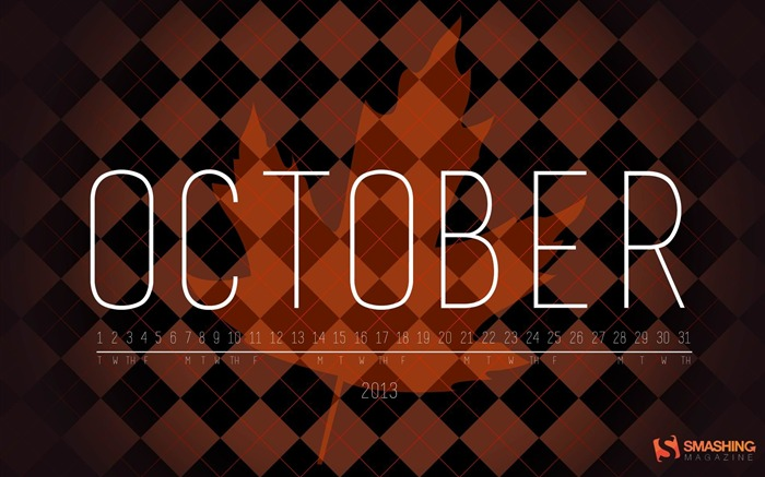 October 2013 calendar desktop themes wallpaper Views:8915