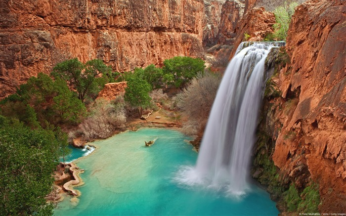 Havasu Falls Grand Canyon Park-Nature HD wallpaper Views:3654 Date:9/7/2013 3:50:17 PM