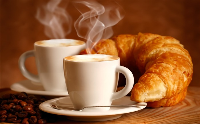croissant drink couples-Food HD Wallpaper Views:4251