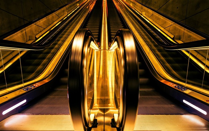 golden escalators-Photography Life HD Wallpaper Views:2836