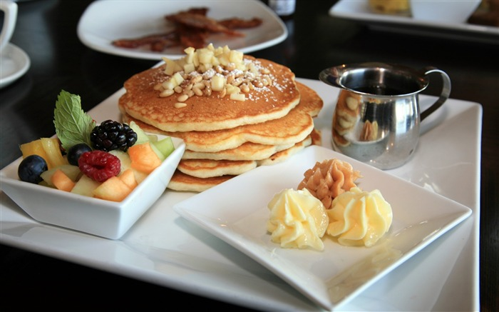 pancakes food breakfast-Food HD Wallpaper Views:5720