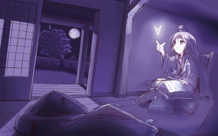 room book read evening-Anime HD Wallpaper Views:3699