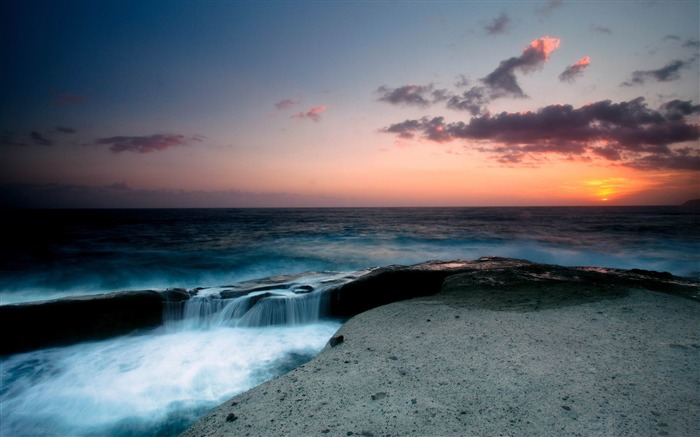 seascape evening-ocean Landscape wallpaper Views:5305