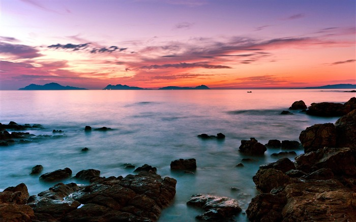 seascape sunset-ocean Landscape wallpaper Views:2426