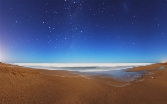 starry sky beach-ocean Landscape wallpaper Views:2952