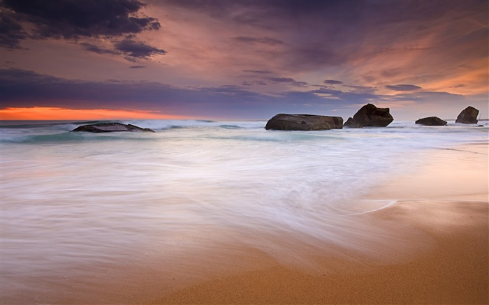 violet sky-ocean Landscape wallpaper Views:2506