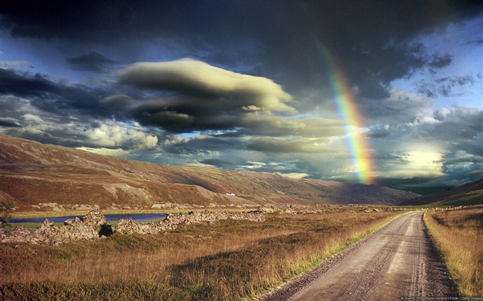 Afternoon Rainbow Iceland-Windows Nature Wallpaper Views:3129