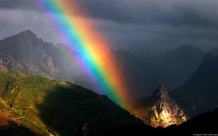 Asturian mountain rainbow-Windows Nature Wallpaper Views:4735