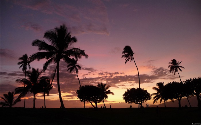 Maui Sunset Kihei-Windows Nature Wallpaper Views:4412