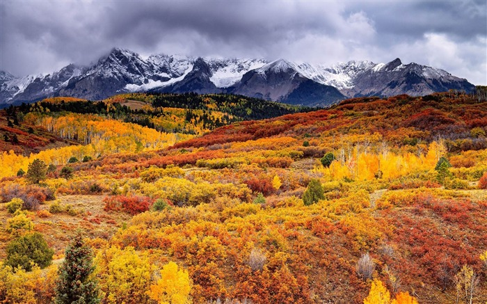 Mountains Autumn Landscape-Scenery HD wallpaper Views:3592