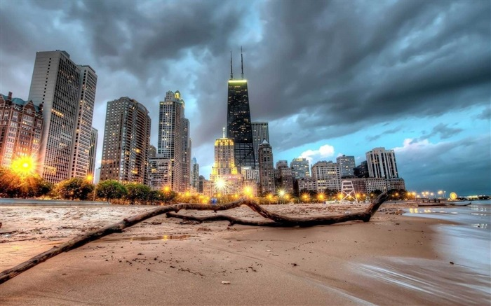 chicago skyscraper beach-cities HD Wallpaper Views:3823