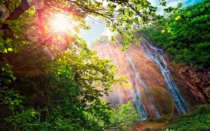 falls patches of light-Nature HD Wallpaper Views:3153
