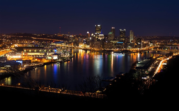 pittsburgh skyline-cities HD Wallpaper Views:3536