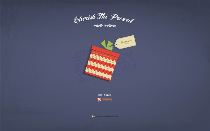 Cherish The Present-December 2013 Calendar Wallpaper Views:5675 Date:11/30/2013 6:36:37 AM