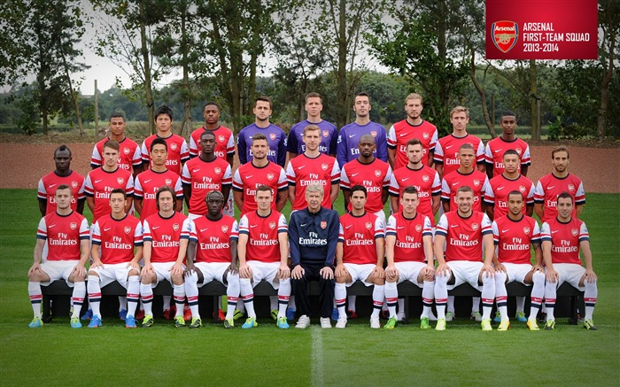 Arsenal team 2013-2014 season HD Wallpaper Views:24586