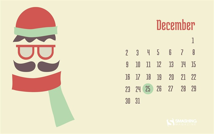 Frozen Mustache-December 2013 Calendar Wallpaper Views:5053 Date:11/30/2013 6:42:35 AM