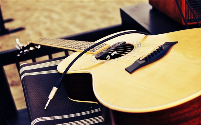 Guitar Macro-Music HD Wallpaper Views:2749