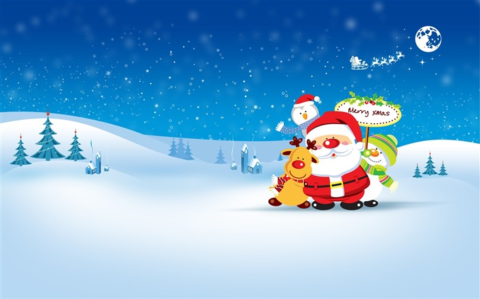 Merry Christmas Holiday Theme HD Desktop Wallpaper Views:13219