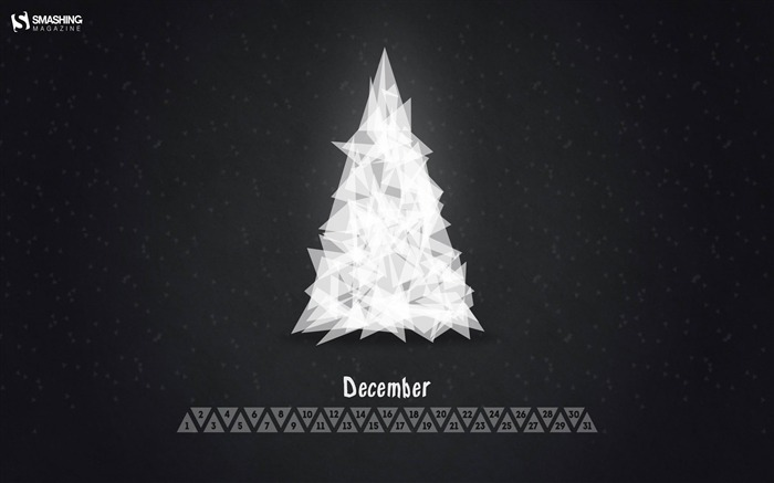 Triangle Christmas Tree-December 2013 Calendar Wallpaper Views:3469 Date:11/30/2013 6:48:57 AM