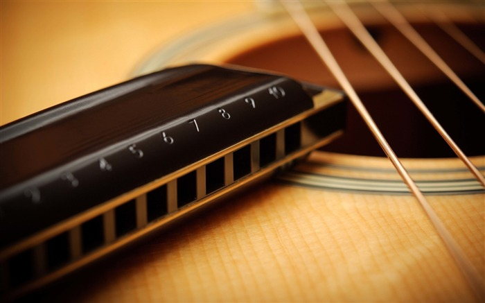 guitar strings acoustic harmonica-Music HD Wallpaper Views:8707
