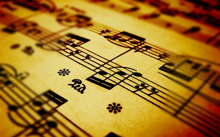 music notes close-up-Music HD Wallpaper Views:3813
