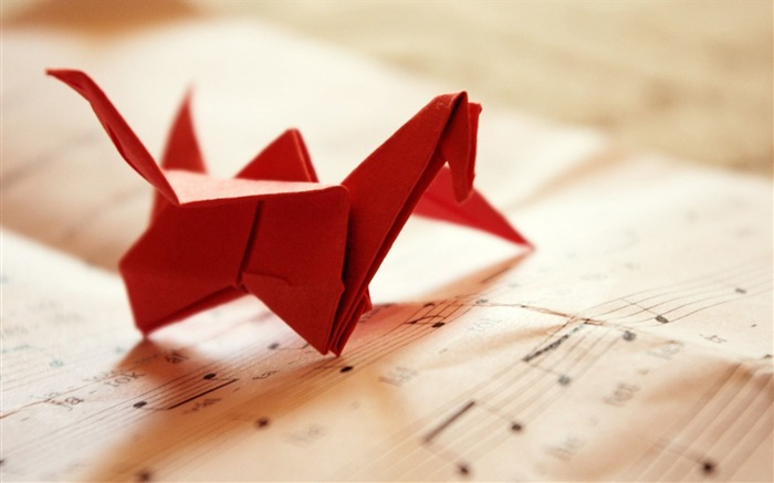 origami bird-Music HD Wallpaper Views:3170