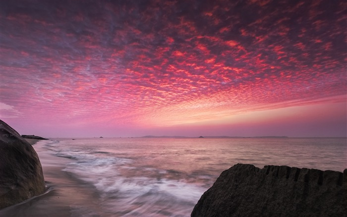 China Coast sunrise landscape photography wallpaper 01 Views:3137