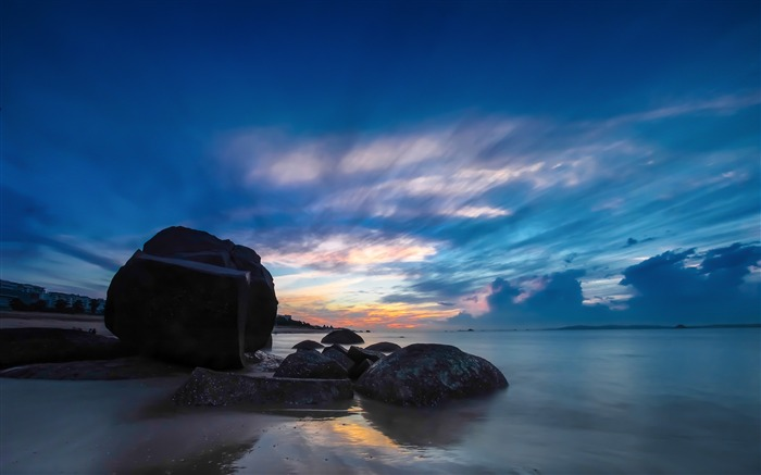 China Coast sunrise landscape photography wallpaper 03 Views:3084