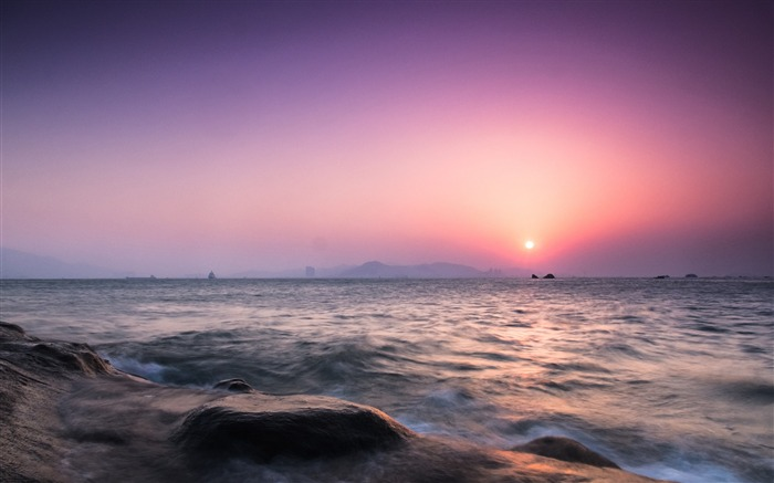 China Coast sunrise landscape photography wallpaper 04 Views:2897