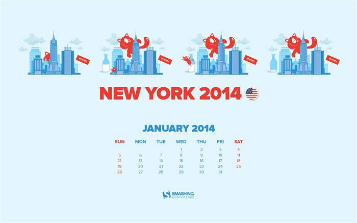 Conf In New York-January 2014 calendar wallpaper Views:2318