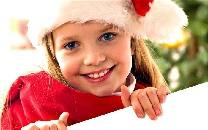 Cute kids Merry Christmas Holiday Wallpaper 04 Views:3644