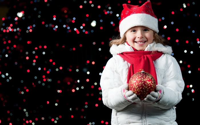 Cute kids Merry Christmas Holiday Wallpaper 07 Views:3398