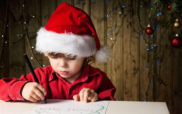 Cute kids Merry Christmas Holiday Wallpaper 13 Views:4059
