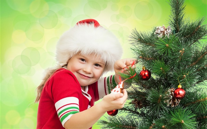 Cute kids Merry Christmas Holiday Wallpaper 15 Views:3256