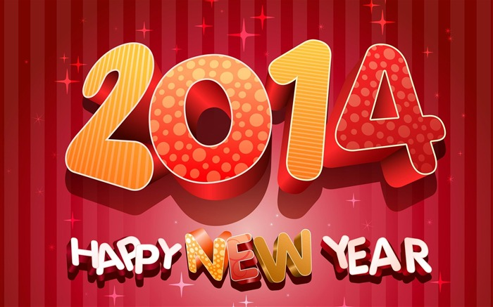 Happy New Year 2014 theme desktop Wallpapers Views:17313