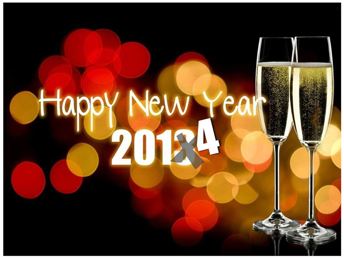 Happy New Year 2014 theme desktop Wallpapers 14 Views:2964