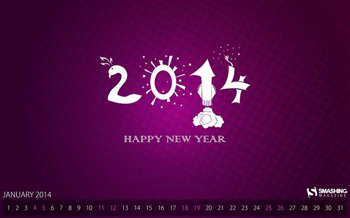 New Year It Is-January 2014 calendar wallpaper Views:2347