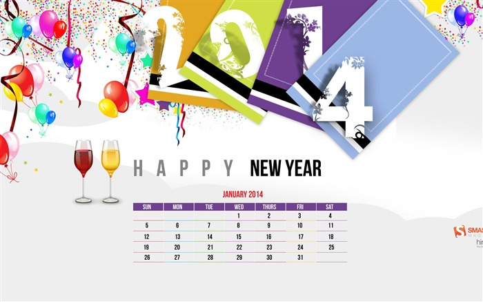 New Years 2014 Celebration Of LIfe-January 2014 calendar wallpaper Views:2255