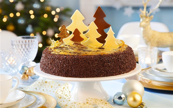 holiday christmas new year dessert cake-Holidays wallpaper Views:4180