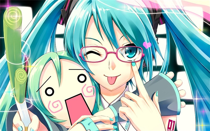 vocaloid girl glasses-HD Design Wallpapers Views:2098