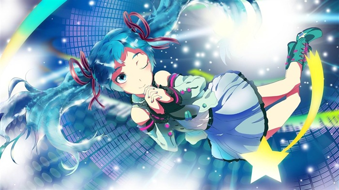 vocaloid hatsune miku anime-HD Design Wallpapers Views:2393