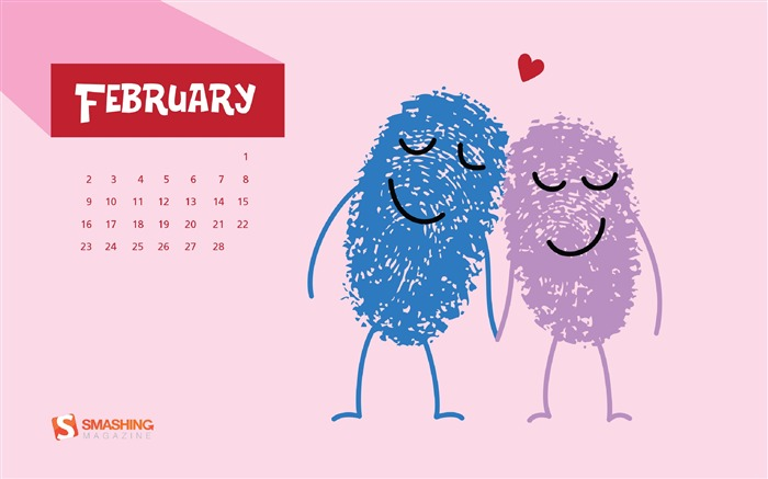 February 2014 calendar desktop themes wallpaper Views:19064
