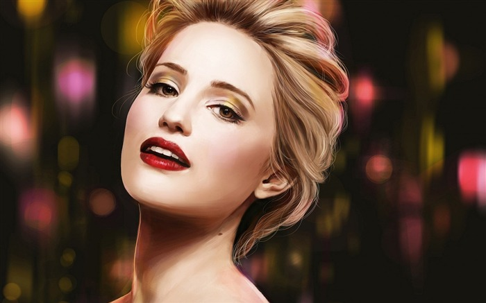dianna agron blonde girl-beauty photo wallpaper Views:3080