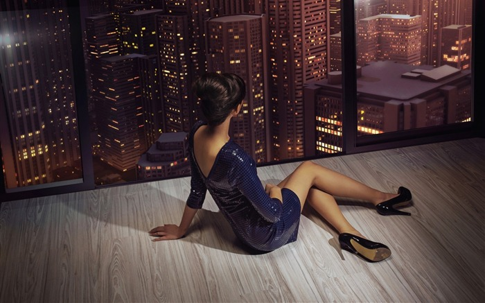 girl heels dress hairstyle-beauty photo wallpaper Views:3118
